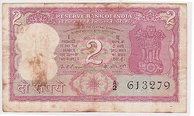 (N2-67) 1945 India 2 rupees bank note (A)