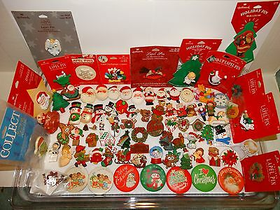 Vintage Hallmark Pins Lot of Christmas Winter Holiday Lapel Pins Brooches CHOICE