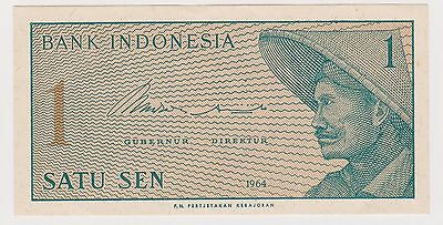 (N2-93) 1964 Indonesia 1 SEN bank note (N)