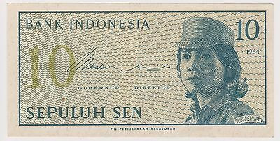 (N2-83) 1964 Indonesia 10 SEN bank note (D)