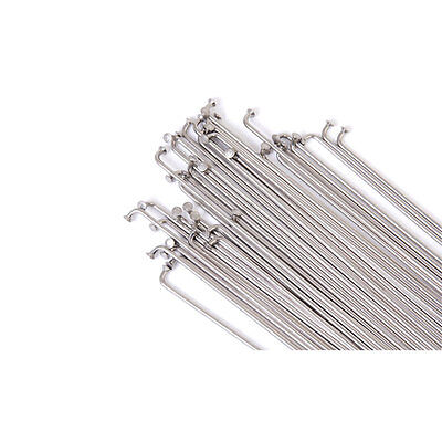 Vocal BMX double butted stainless steel spokes silver