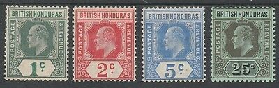 British Honduras 1908 Kevii New Colours Set