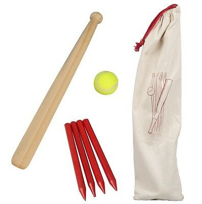 6 Piece Wooden Rounders Set With Carry Bag UK