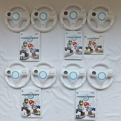 Mario Kart Wii Game And 2 Official Nintendo Wii Steering Wheels