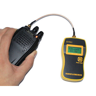 GY-561 Handheld Walkie Talkie RF Power Meter & Frequency Counter for 2 Way Radio