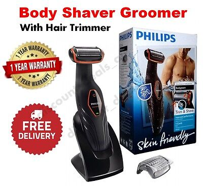 Cordless Body Hair Shaver Trimmer Rechargeable Mens Electric Groomer Wet Dry