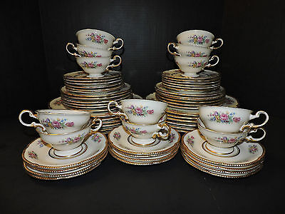 "Castleton China ""Castleton Rose"" 5 Piece Setting for 12 (60 Pieces Total)"