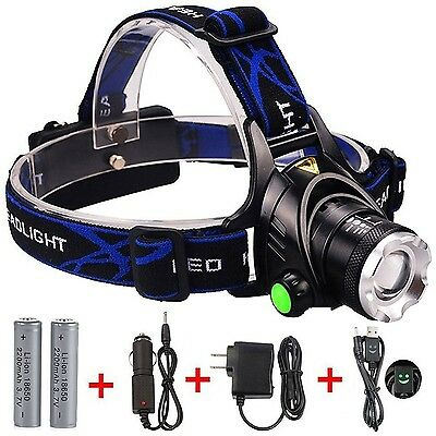 GRDE LED Headlamp Zoomable 3 Modes Waterproof Headlight for Outdoor Camping H...