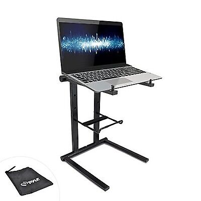Pyle PLPTS35 Universal DJ Laptop Stand with Accessory Tray