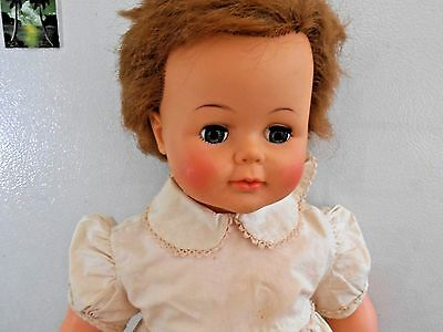 """Vintage 1961 Ideal Kissy Baby Doll - Kissing Doll -Rooted Hair - Sleep Eyes -23"""""""