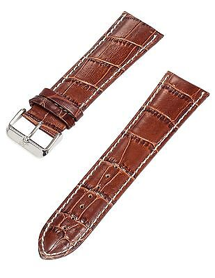 KS Official 20mm Mens Brown Genuine Leather Wrist Watch Band Strap Watchband ...