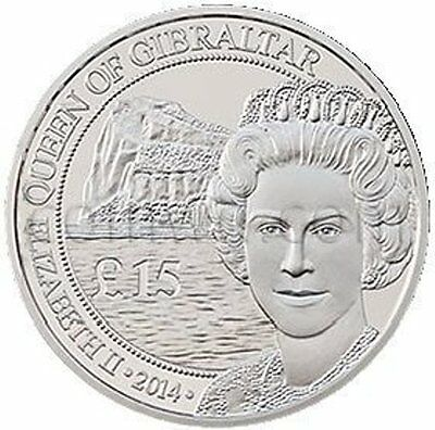 Gibraltar 15 Pounds 2014 Silver Royal Coin 1 Troy ounce (#3461)