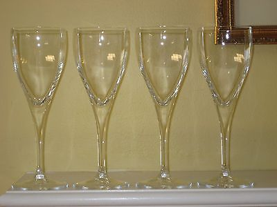 "4 Mikasa PANACHE Water/ Wine Goblets Square Bowl 8-7/8""  NEW"