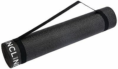 Incline Fit High Density Anti-Slip Exercise Yoga Mat Onyx With Strap