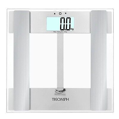 Triomph Digital Body Fat Weight Scale w/ Smart Step-On Technology 330 lbs Cap...