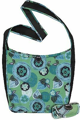 ChicoBag Sidekick Cross-Body Reusable Shopping Tote/Grocery Bag with Pouch Aq...