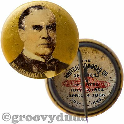 1900 President William McKinley Political Campaign Vintage Pin Pinback Button