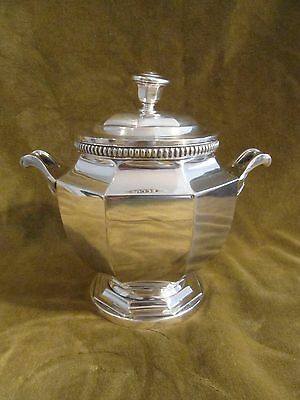 early 20th c silverplate gallia christofle sugar bowl gadroons Louis XIV style