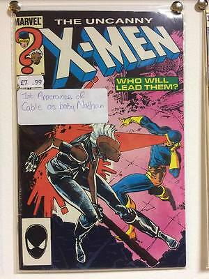 Uncanny X-Men #201 JAN 1986 1st Appearance of Cable As Baby Nathan!