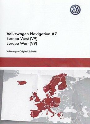 VW RNS 315 WEST Europe V9 Navigation map SD card newest RNS315 2017 SEAT SKODA