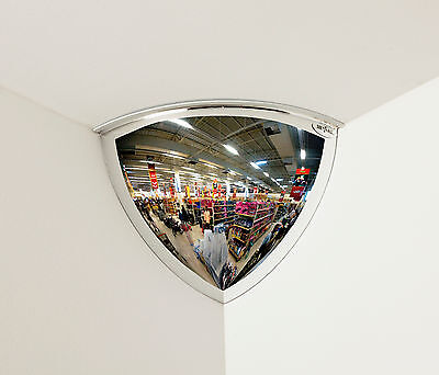 "#1 Rated Industrial Quarter Dome Convex Mirror 18"" 90° Viewing Tpv18-90"