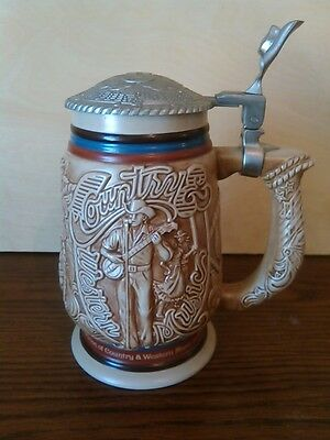 Collectible Country & Western Music Beer Stein 1994 Avon #83358 Handcrafted In B