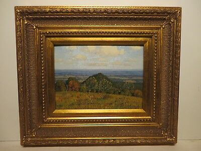"9x12 original 1940s oil on board painting by FRED DARGE ""Texas Hill Country"""