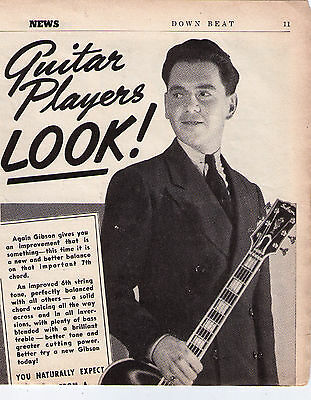 """1939 Gibson Guitar """"Only A Gibson Is Good Enough"""" Vintage Print Advertisement"""