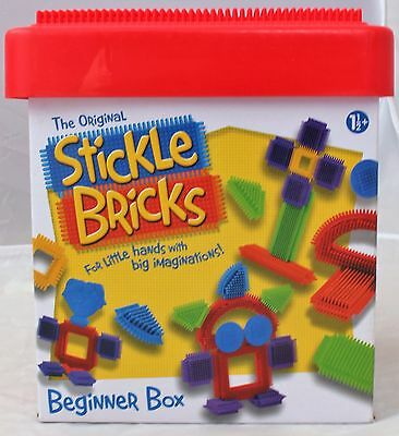 Stickle Bricks Beginner Box Bucket Building Shapes