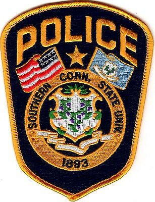 Southern Connecticut State University Police Patch Connecticut CT NEW !!!