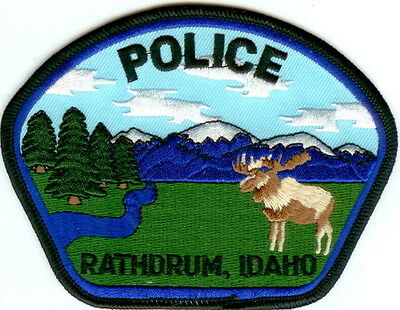 Rathdrum Police Patch Idaho ID NEW