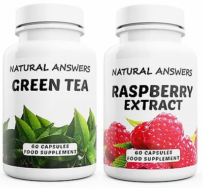 Raspberry Ketones Green Tea Fat Burners Capsules Strong Diet Pills Weight Loss