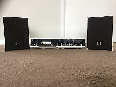 Hitachi-Fm/Mw/Lw Compact Stereo With 8 Track Stereo Player -Sp-2812L +34 Tapes