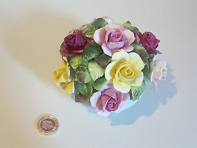 Royal Adderley Floral Bone China - Flower Basket Ornament - Large