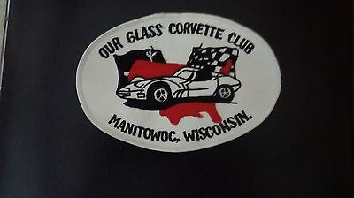 """2 Corvette Club patch / Manitowoc ,Wisconsin 4 X 6"""" never used"""