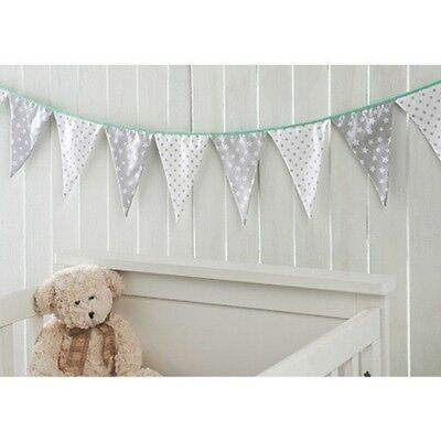 Lovely Baby Bunting Nursery Decor Grey / White