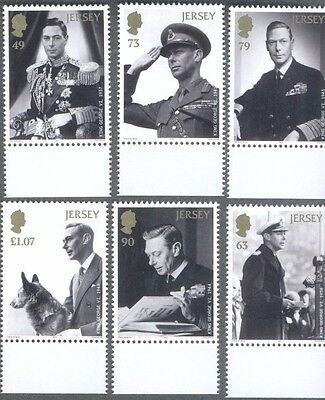 Jersey-King George VI set 2017 Royalty-mnh