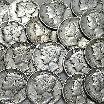Lot Of 7 Estate Coins From World War Ii ! Silver,mercury And Much More!
