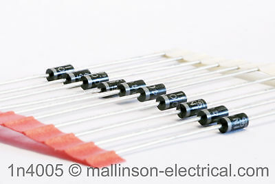 Pack of 10 1N4005 Silicon Rectifier Diodes