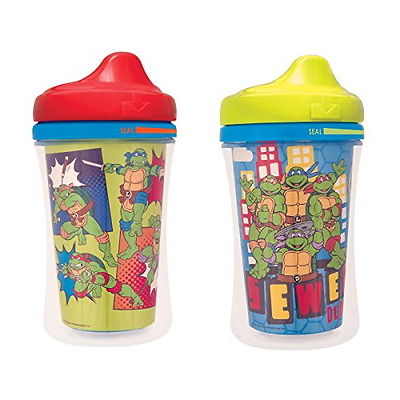 Baby Nuk Sippy Cup Spill Proof Insulated Hard Spout 2 Pack Ninja Turtle Bottle
