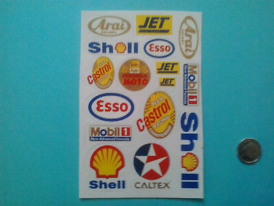 Shell/Esso/Jet + 16 pc sticker set gas transportation collectible sticker set