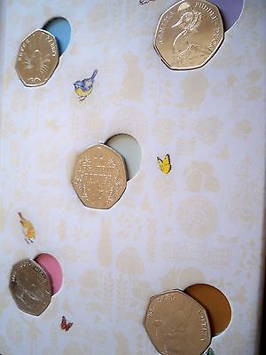Full Set 2016  Beatrix Potter 50P Coins With Collector Album All Coins Unc
