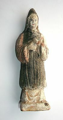 EARLY CHINESE, MING DYNASTY - Pottery Court Figure  AD 1368 - 1644