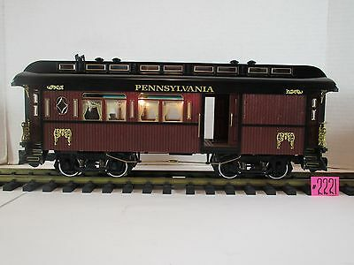 Aristo-Craft  Pennsylvania Coach Car - Metal Wheels WITH LIGHT.