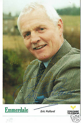 Chris Chittell Actor Eric Pollard  Emmerdale Hand Signed Photograph 6 x 4