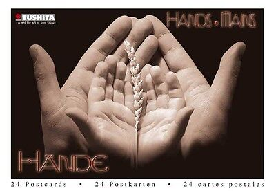 HANDE / HANDS / MAINS...a book of 24 sepia toned postcards (German Import)