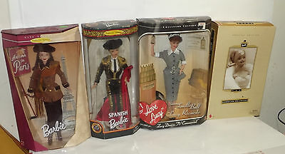 Lot Of 4 Collector Edition Barbie Special Edition Barbie Plus I Love Lucy Doll