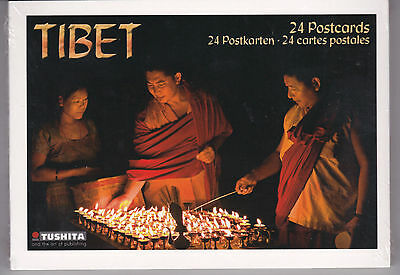 TIBET...a book of 24 color postcards (German import)