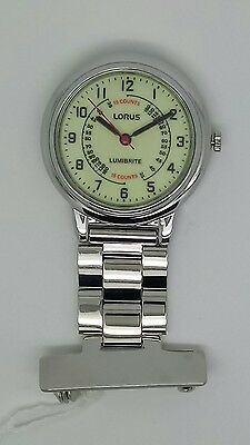 Nurse fob watch by lorus lumibrite RRP£29.99 RG253CX9
