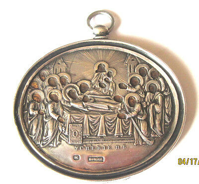 Antique Russian Imperial Travel Icon Dream Of Blessed Virgin Mary 84 Sterling